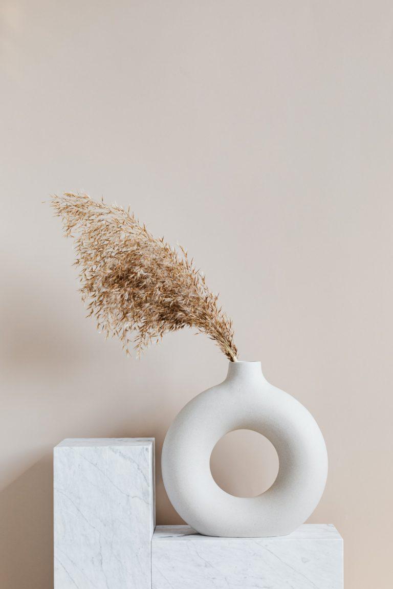 aesthetic white vase